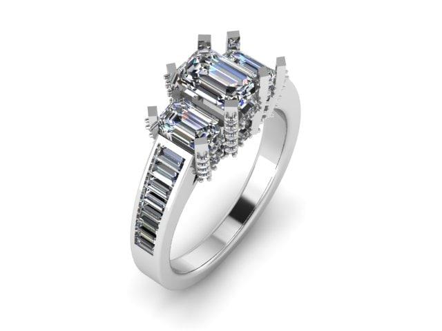 wedding emerald ring model