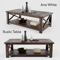ana white rustic coffee table 3D model