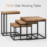 Taiga Oak Nesting Table