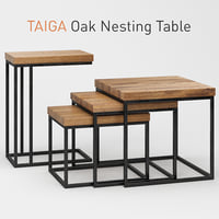 3D taiga oak nesting table model