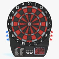 3D model electronic dartboard