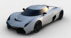 3D supercar concept model