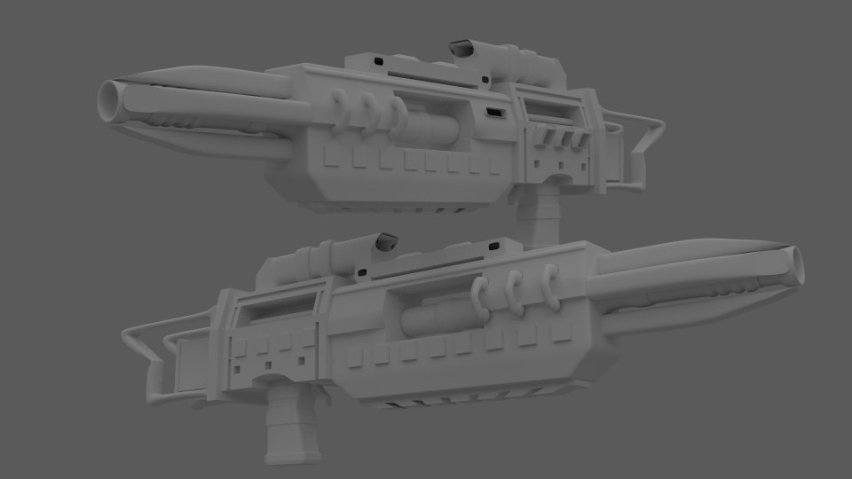 weapon laser - cannon 3D model