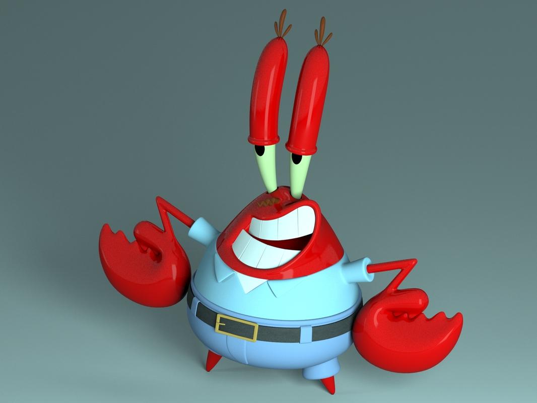 3D mr krabs - sirigueijo model