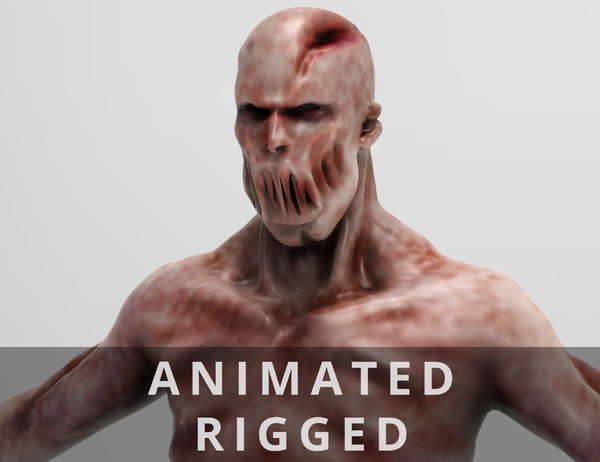 walking zombie animation - 3D