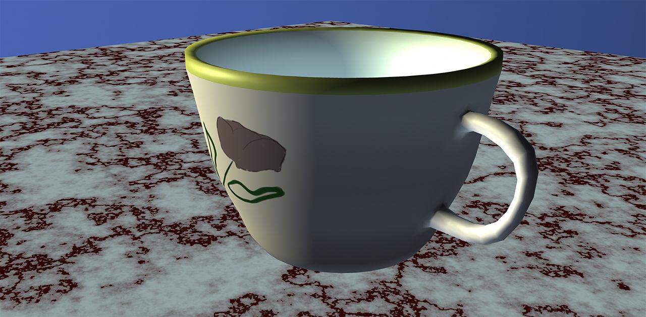simple tea cup 3D model