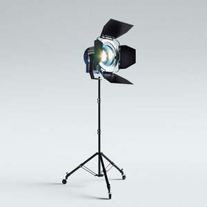 3D studio lighting spotlight model