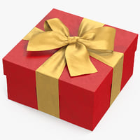 gift box red 2 3D