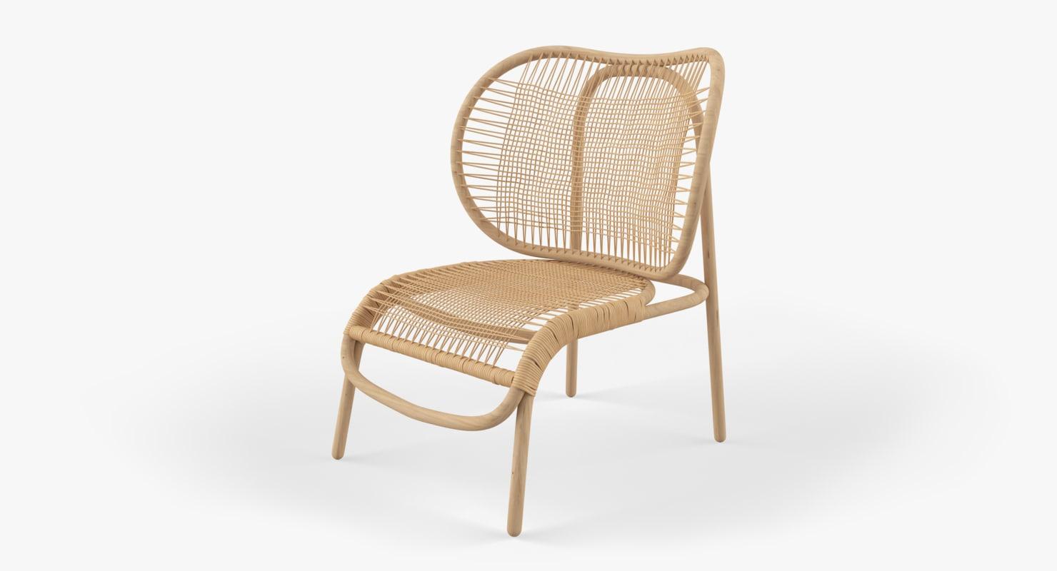 rattan chair dumbo 3D model