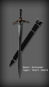 short sword 3D