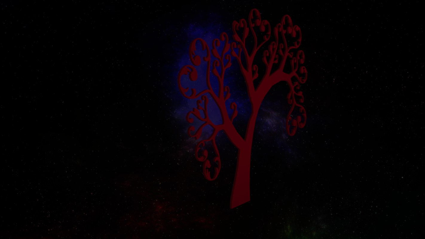 3D hart tree logo model