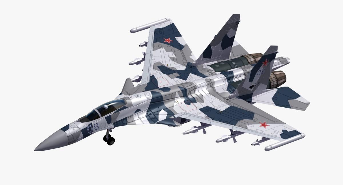 su-35 flanker fighter 3D model