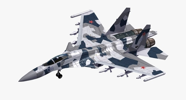 su-35 flanker fighter 3D model