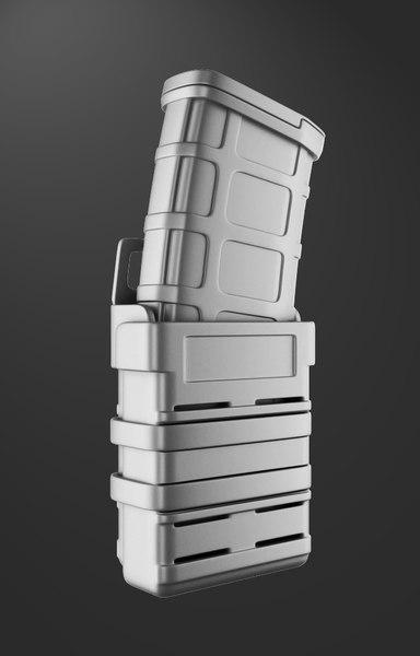 3D magazine weapon holder model