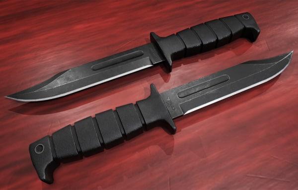 3D marine combat knife