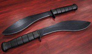 tactical kukri knife 3D model