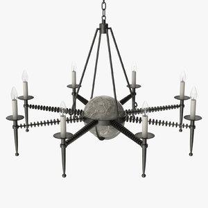 avrett - franc chandelier 3D model