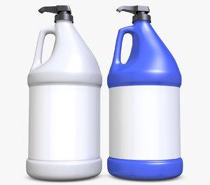 3D gallon plastic bottle model