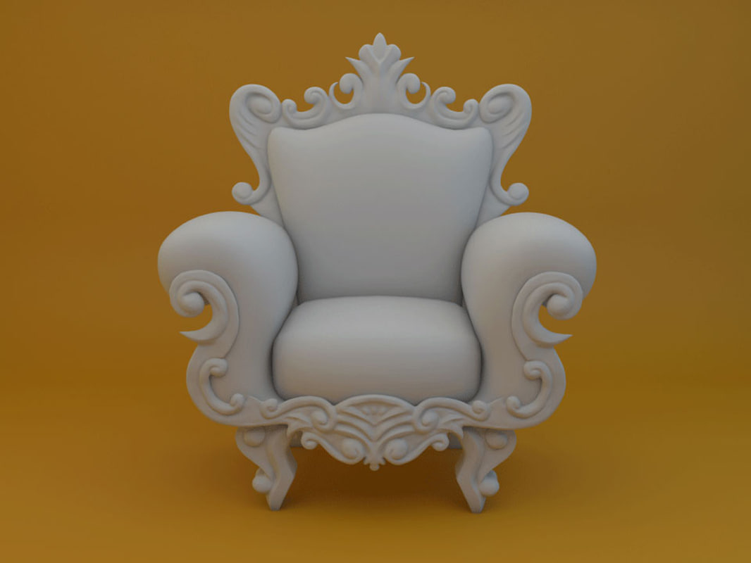 pop armchair 3D model