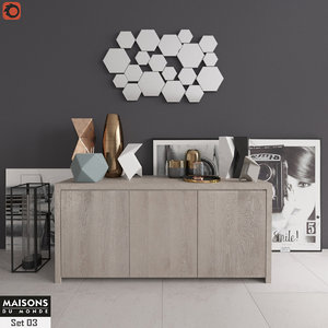 3D buffet decor maisons du