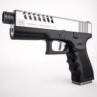 3D model glock 19 custom slide