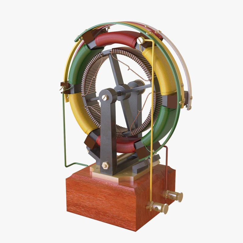 3D early electric motor model