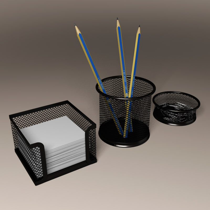 pencil paper holder 3D model