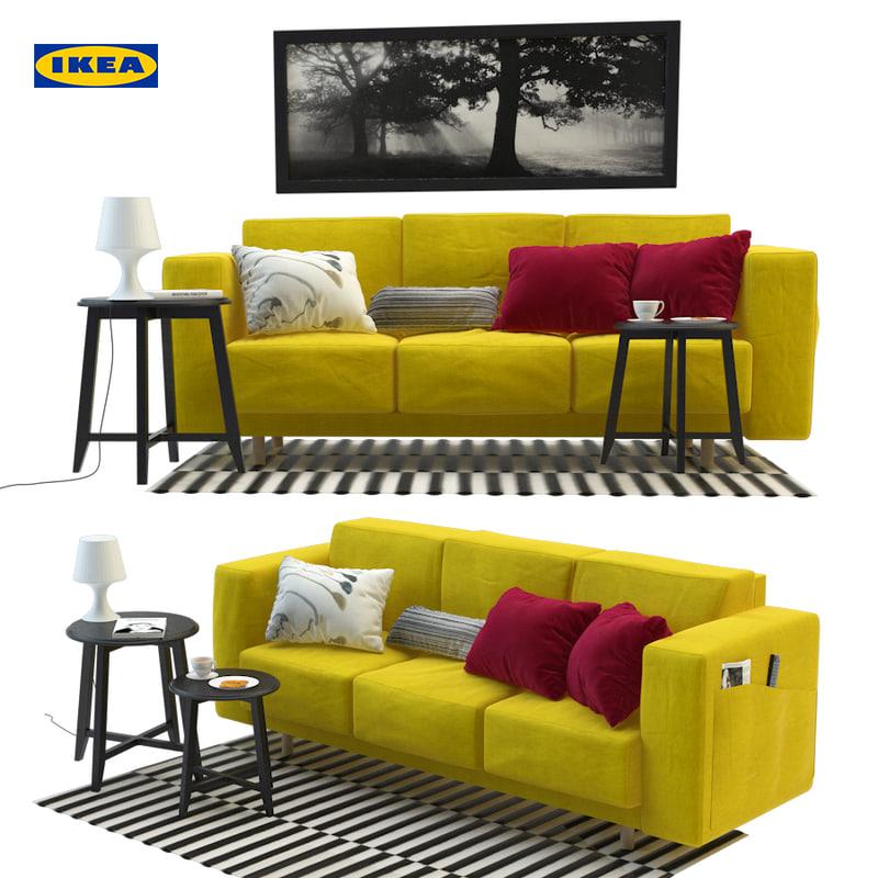 3d Ikea Furniture Sofa Turbosquid 1201206