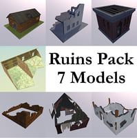 ruined building pack 7 3D