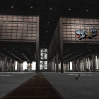 old factory building abandoned 3D