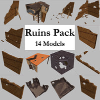 ruined building pack 14 3D model