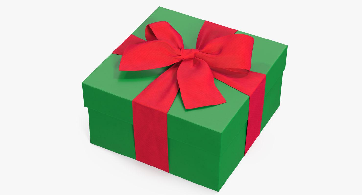 gift box green 2 3D model