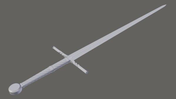 3D sword witcher