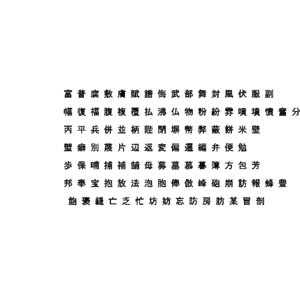chinese ms gothic font 3D