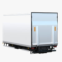 3D tail lift van box model