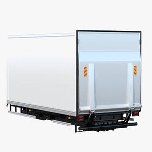 3D tail lift van box model