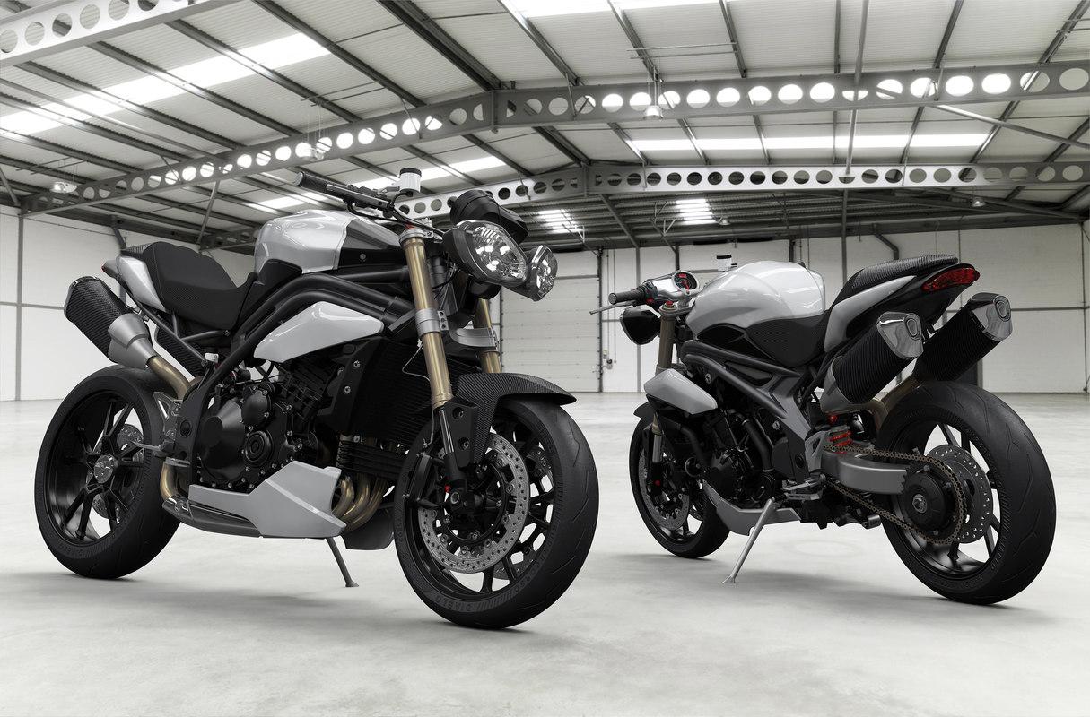 motorcycle triumph speed triple 3D model
