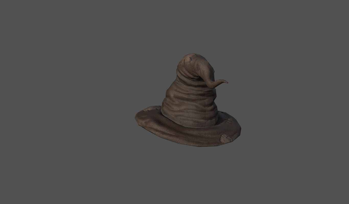 3D model witch s hat