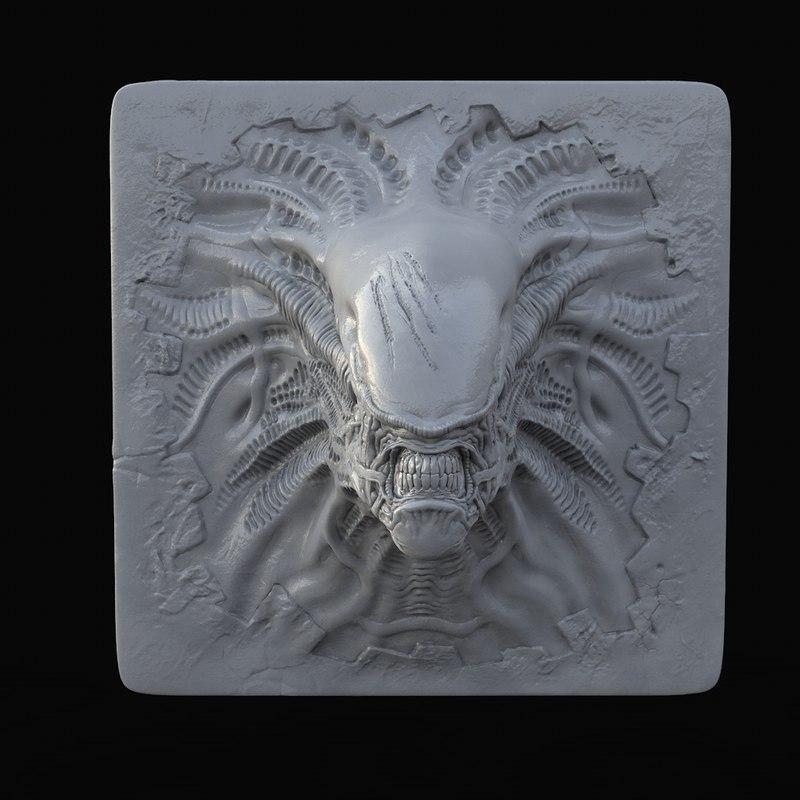 alien decoration 3D model