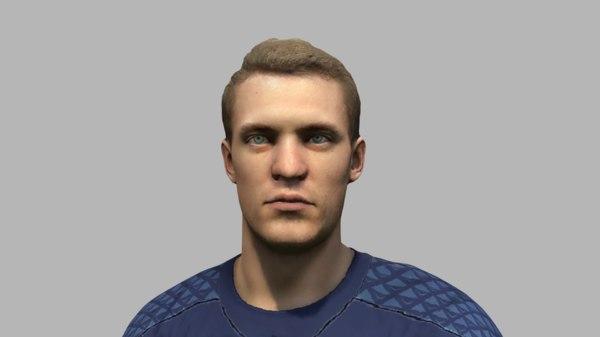 3D neuer base face model