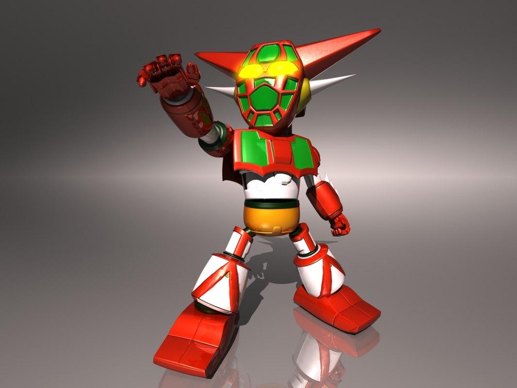 getter robot version 3D model