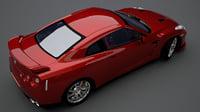 3D car 2012 nissan gt-r