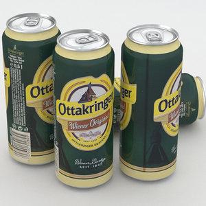 beer bier ottakringer 3D model