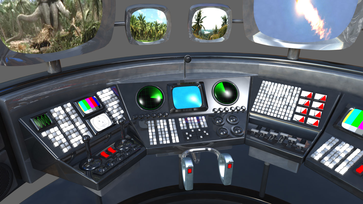 controls console 3D model