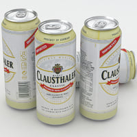 beer ale clausthaler 3D model