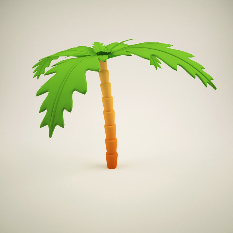 palm tree cartoon 3D model