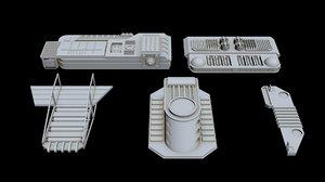 3D starship greeble 1