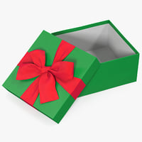 gift box open green model