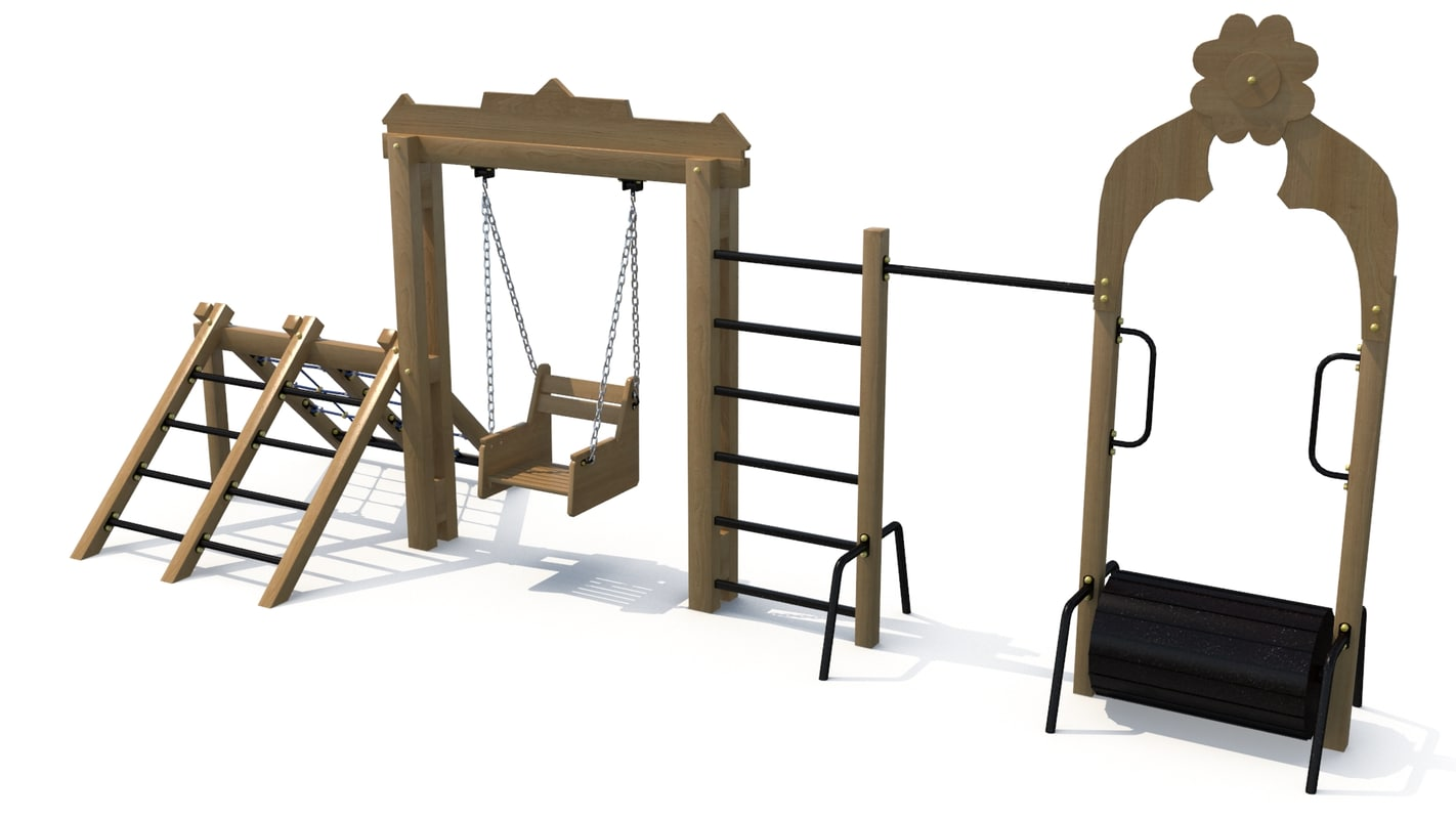 3D children sports complex