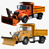 3D 348 snowplow snow model